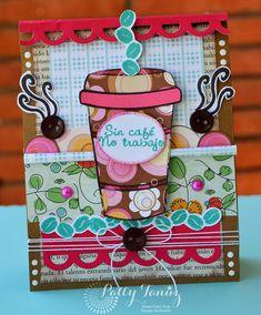 SIN CAFÉ NO TRABAJO.... Scrapbook Albums, Scrapbook Cards, Scrapbooking, Paper Flower Backdrop, Paper Flowers, Mini Albums Scrap, Coffee Cards, Cool Notebooks, All Paper