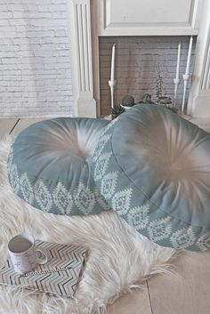 Dash and Ash Morning Fogg Floor Pillow Round | DENY Designs Home Accessories