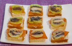 Photo de recette d'apéro toast truite kiwi de  Kilomètre-0, blog de cuisine…