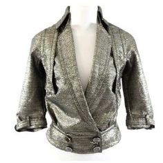 I just discovered this while shopping on Poshmark: Byron Lars gold metallic Moro jacket. Check it out! Price: $99 Size: 4