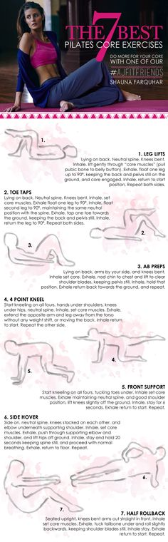 The 7 Best Pilates Core Exercises | Modern-day Pilates is focused on correct technique in movement by not just relying on large global muscles such as the glutes, biceps and quads, but retraining the deeper stabilizing muscles for improved mobility and injury prevention. Other benefits include improved flexibility, muscle tone, posture and stress management. Workout Routines