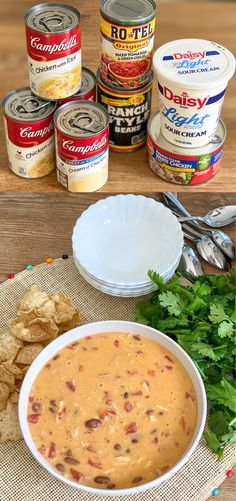 This creamy, delicious Tortilla Soup has only 6 ingredients and a ton of flavor! It is probably the easiest dinner you w Cooker Recipes, Crockpot Recipes, Healthy Recipes, Soup Recipes, Recipies, One Dish Dinners, Easy Dinners, Monthly Meal Planning, Roasted Vegetable Recipes