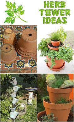 Herb Tower Ideas