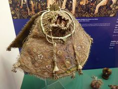 Belt Purse, Belt Pouch, Pouch Bag, 17th Century Clothing, Medieval Embroidery, Renaissance Gown, Sweet Bags, Landsknecht, Frame Purse