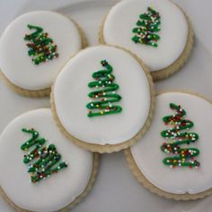 Christmas Sugar Cookies / Simple Christmas Cookies / Christmas Cut Out Cookies / Tree Cut Out Cookies DOZEN) - The most delicious cut out cookies you will ever eat! These cookies are the cutest cookies for a Ch - Easy Sugar Cookies, Christmas Sugar Cookies, Christmas Sweets, Christmas Cooking, Noel Christmas, Christmas Goodies, Christmas Lights, Simple Christmas Decorations, Decorated Christmas Cookies