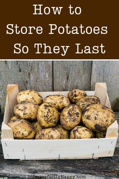 How To Store Potatoes, Storing Potatoes, Canning Potatoes, Veg Garden, Vegetable Gardening, Gardening Tips, Potato Storage, Fruit And Vegetable Storage, Emergency Preparation