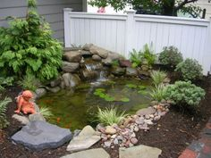 front yard pond idea