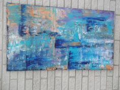 Large Abstract Painting Original Acrylic 28x48 by Jillsfineart, $300.00