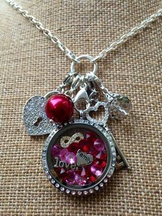 Love. Family. Forever. Valentine's Day. Heart. Key. Lock. Origami Owl, Custom Jewelry. Shop at: www.lauriefranklin.origamiowl.com
