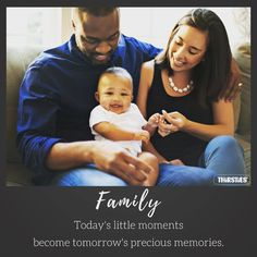 We couldn't agree more with this parenting quote... family first!