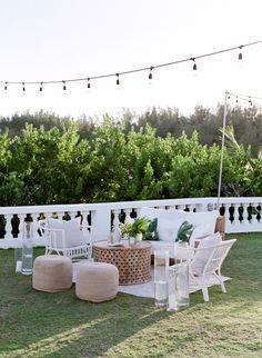 The Prettiest Way to Kick Off a Destination Wedding Weekend in Bermuda Cocktail Wedding Reception, Wedding Lounge, Bali Wedding, Tent Wedding, Wedding Seating, Outdoor Cocktail Party, Wedding Tables, Outdoor Parties, Wedding Receptions