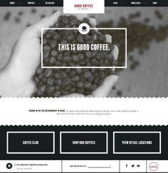 Good Coffee of Charleston - Flat UI Design Website
