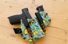 Excited to share this item from my #etsy shop: Fits CZ P10C Burly Man Tactical Tacos Pattern and EMT Red iwb aiwb Custom Holster USA Made RoyaliteHG Knife Sheath Making, Custom Holsters, Threaded Barrel, Kydex Holster, Initials, Tacos, Take That, Etsy Shop, Usa