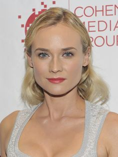 Diane Kruger's dewy skin and perfect bone structure makes her light strands are just right.