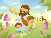 Stock Photo - Jesus Christ walking with two children Bible Cartoon, Jesus Cartoon, Jesus Pictures, Cute Pictures, French Songs, Bible Illustrations, Jesus Christus, Holy Quotes, Sunday School Crafts