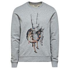 Grauer #Pullover mit #Print ab 34,95€ Hier kaufen: http://stylefru.it/s523136 #sweater #jackjones