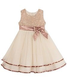 Rare Editions Lace-Bodice Fit & Flare Party Dress, Toddler & Little Girls (2T-6X)