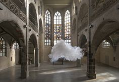 Berndnaut Smilde. Nimbus Sankt Peter, 2014 Digital C-type Print  75 x 109 / 125 x 181 cm Sankt Peter Kunst-Station, Cologne photo: Cassander Eeftinck Schattenkerk