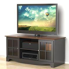 Nexera - Pinnacle 54 inches HEC TV Stand - Cinnamon-Cherry & Black - 101225 - Home Depot Canada