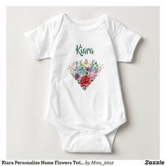 Kiara Personalize Name Flowers Twins 2 Hearts Baby Bodysuit #babybodysuits #custombabybodysuits #custombodysuitsfortwins #bodysuitstwins #namebodysuits #namebodysuittwins #customizablebodysuits #customizablebodysuitstwins #kiara #kiarabodysuit #babybodysuitsnameflowers #babybodysuitsname Merry Christmas Baby, Christmas Kiss, Christmas Design, Christmas Projects, Strawberry Baby, Personalized Baby Clothes, Personalized Gifts, Pink Watercolor, Consumer Products