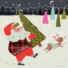 Santa advent Jill Howarth