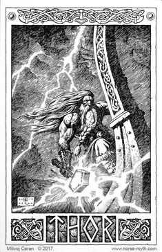 ArtOrder is raising funds for Milivoj Ćeran Norse Mythology Art Book on Kickstarter! Breathtaking artbook based on Norse mythology, by award-winning illustrator, Milivoj Ćeran Arte Viking, Viking Art, Viking Symbols, Viking Warrior, Viking Woman, Thor Tattoo, Norse Tattoo, Viking Tattoos, Thor Norse
