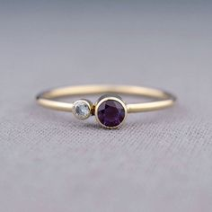 Alexandrite Birthstone Ring 14K Gold by LilyEmmeJewelry on Etsy