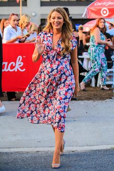 Blake Lively wore a gorgeous floral maternity dress.