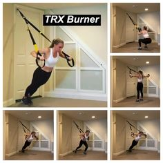 Trx Workouts For Women, Fitness Workout For Women, Sport Fitness, Running Workouts, At Home Workouts, Insanity Workout Videos, Gym Workout Videos, Suspension Workout, Suspension Training