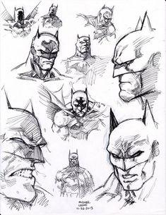 Batman drawing sketch