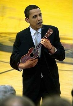 We, the #ukulele players... President Obama http://ozmusicreviews.com/music-promotions-and-discounts