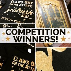 Congratulations to Goldrush Cheerleading who received these 100 printed t-shirts free of charge through our 100 t-shirt Facebook giveaway! We love using the metallic gold ink! #tshirts #screenprinting #goldrushcheerleaders #competition #winners #metallic #gold