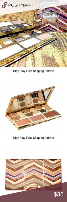 Tarte Clay Play Shaping Palette A set of 12 essential Amazonian clay matte eyeshadows that multitask as universal eye, nose and brow shapers, and contouring shades.  What it does: Define and contour your features with this universal sculpting palette. Contour your eyes, brows, nose, and complexion with 12 essential shades: nine neutral-to-smoky matte shadows with buildable color, and three sculpting face powders to contour a variety of skintones. Each microfine powder blends to a…