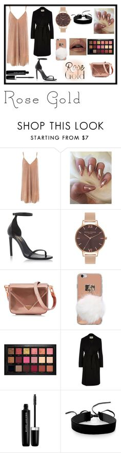"""Rose Gold ♡"" by anna-miller10 ❤ liked on Polyvore featuring Sans Souci, Yves Saint Laurent, Olivia Burton, Alexander Wang, Huda Beauty, River Island, Marc Jacobs and Simons"