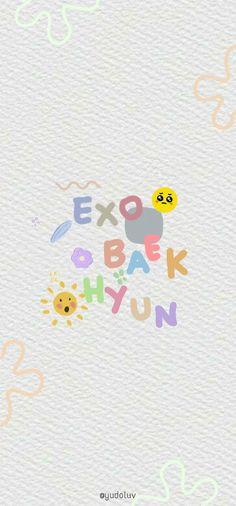 Exo Ot12, Chanbaek, Simple Wallpapers, Pretty Wallpapers, Soft Wallpaper, Wallpaper Backgrounds, Kpop, Exo Stickers, Baekhyun Wallpaper