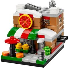 LEGO Set 40181-1 Bricktober Pizza Place - building instructions and parts list. Theme: Bricktober; Year: 2014; Parts: 139; Tags: modular buildings