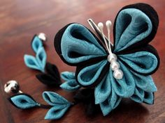 花園の舞姫☪ひらりと舞い踊る蝶 ⋠モルフォ⋡ ちび姫クリップ
