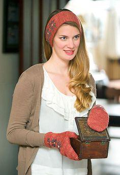 Ravelry: Lenten Rose Mittens + Headwarmer pattern by Kate Gagnon Osborn