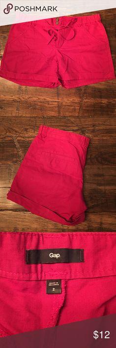 Gap Shorts Bright colored shorts with cuffs, button and drawstring closure. Front and back pockets. GAP Shorts