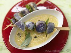Kartoffel-Lorbeer-Spieße mit Möhren-Salbei-Dip - smarter - Kalorien: 216 Kcal | Zeit: 65 min.