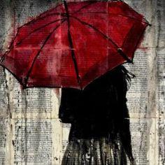 """Saatchi Art Artist Loui Jover; Drawing, """"feels like rain"""" #art"""
