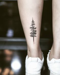 Dotwork pine tree The post Dotwork pine tree appeared first on Best Tattoos. Neck Tattoos, Cute Tattoos, Beautiful Tattoos, Small Tattoos, Sleeve Tattoos, Body Art Tattoos, Tatoos, Xoil Tattoos, Pine Tattoo