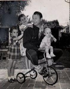 ridesabike: Cheryl Rogers, Roy Rogers and Roy Rogers, Jr., ride a trike. Linda Rogers hangs on.