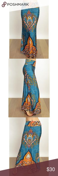 Teal Printed Maxi Skirt SIZE S M L AVAILABLE Brand new (no tags attached) Beautiful printed maxi skirts available in size small, medium, and large. Skirts Maxi
