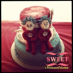 Dr. Seuss Thing 1 & Thing 2 cake. www.facebook.com/NapasSweetSensations