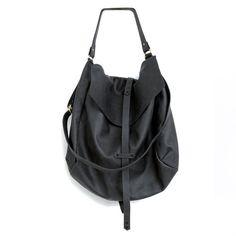 Black Leather Hobo Bag every day bag tote bag by StellaandLori, $375.00