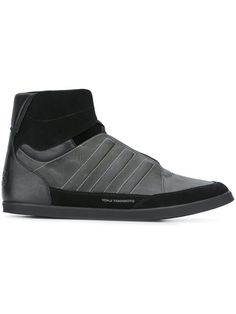 Y-3 Lace-Up Hi-Top Sneakers. #y-3 #shoes #flats
