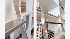 BARTELS DOORS :: Bartels - Modern Custom Interior Doors, Door Hardware, Modern Library Ladders and Shower Door Systems - Made in Germany - PRODUCTS - Modern Library Ladders - Custom Ladder Styles - AK - Sliding Ladder