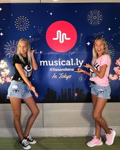 Lisa and Lena at musical.ly in Tokyo