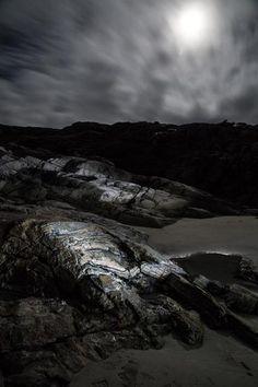 Isle of harris moonlit beach